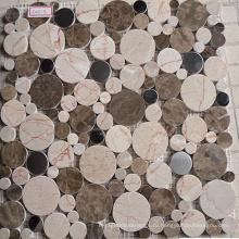 Гидроабразивная мраморная мозаика