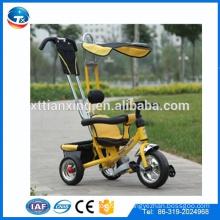 2014 Neue Art Kinder EVA drei Räder Baby Kinder Dreirad Spielzeug, Sicherheit Baby Dreirad, Fahrt auf Auto Kinder Dreirad mit Dach