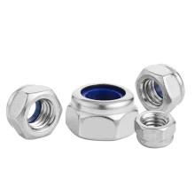 DIN985 Stainless Steel 304 M8 M10 M12 M14 M16 M18 M20 Fine Thread Nylon Lock Nut Fastener