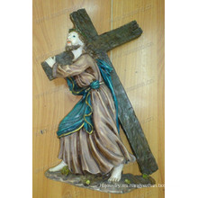 Resina católica Cruz de Jesucristo Estatuilla