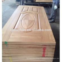 Conception de porte en mélamine / portes en bois décoratif / revêtement porte en placage