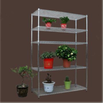 Free Stand cromo metal flower pot exibe Racks (CJ12045180A5C)