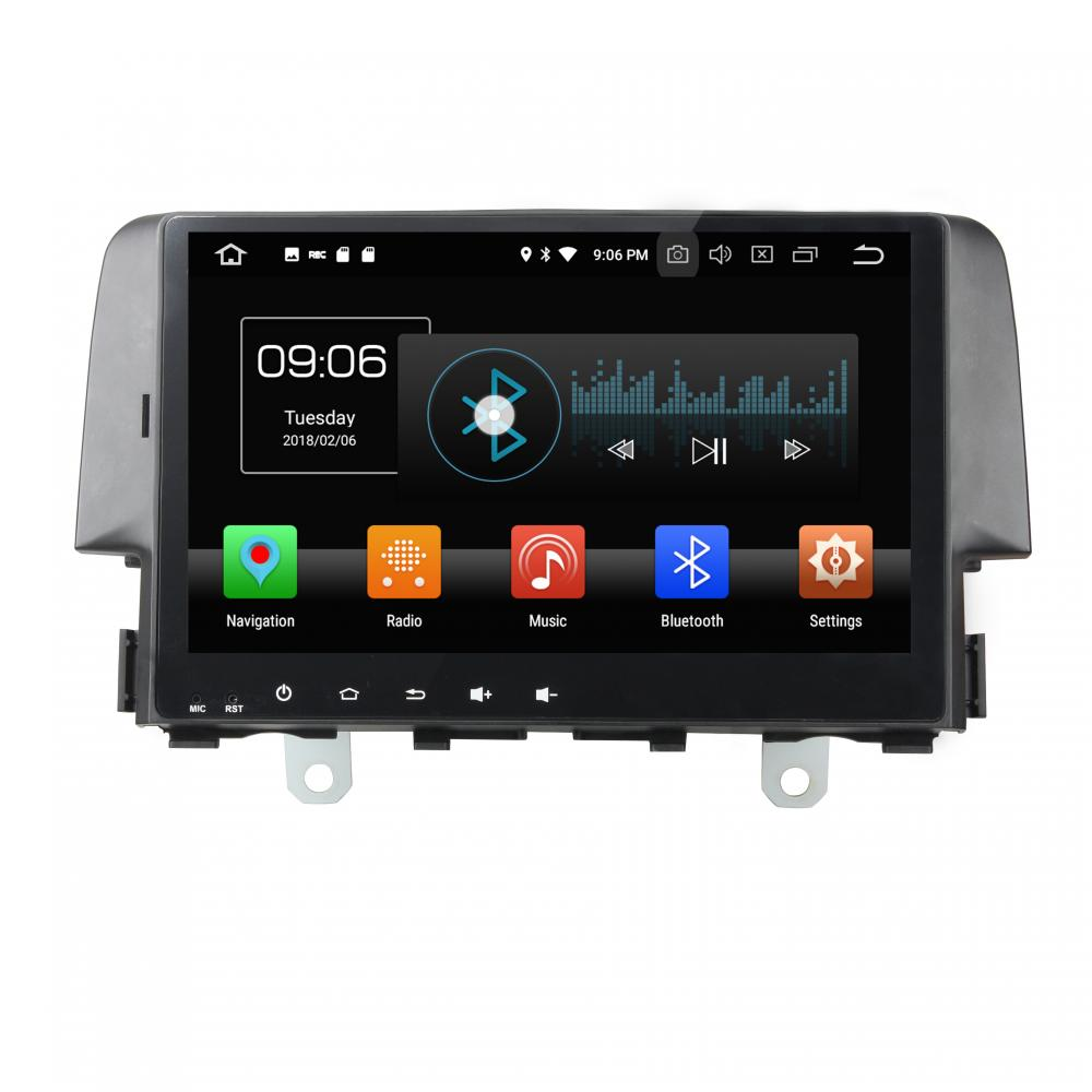 Android 8.0 car dvd player for CIVIC 2016-2017 with parrot bluetooth