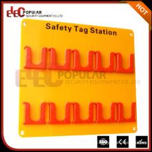 Placa de acrílico personalizada elepopular com material de ABS 10 Posições de etiqueta Safety Tag Station