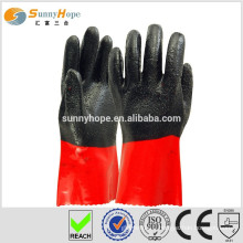 Sunnyhope PVC chips enforced industrial safety gloves,waterproof car wash gloves