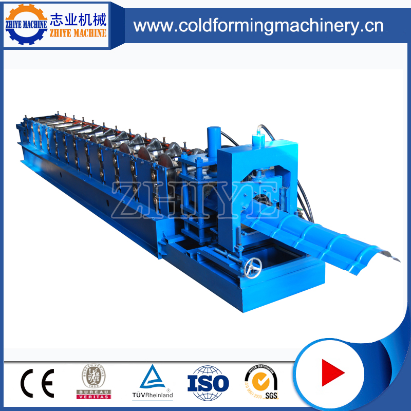 High Efficiency PPGI Metal Ridge Cap Cold Forming Machine