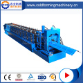 PLC Colored Steel Roof Ridge Cap Making Machine