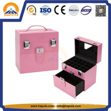 Nail & Jewelry Beauty Makeup Case with Leather Frame