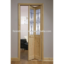Hotsale Fresh Design dobrável banheiro de porta de vidro para Villa Hotel