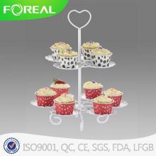 Coração forma 2 camadas 10PCS Metal Cupcake Stand