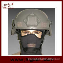 Military Mich 2000 Ach Helmet with Nvg Mount & Side Rail Action Version Helmet Grey