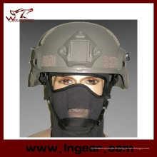 Mich 2000 Ach Militärhelm mit Nvg Mount & Seite Rail Action Version Helm grau