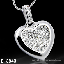 Liebhaber Geschenk 925 Sterling Silber Herzform Anhänger (B-3843, B-4071, B-3123, B-3675BW, B-4113)