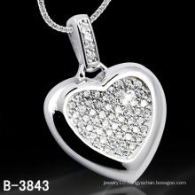 Lover Gift 925 Sterling Silver Heart Shape Pendant (B-3843, B-4071, B-3123, B-3675BW, B-4113)