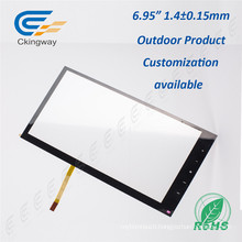 "6.95"" Pet Film Glass 4 Wire Resistive Interactive Touch Glass"