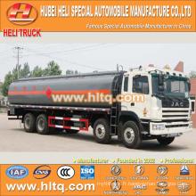 JAC 8X4 270hp 28CBM camion de transport de liquide chimique à vendre, approvisionnement en usine de Chine