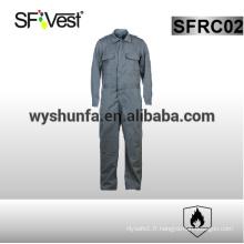 Combinaison de sécurité 100% coton à manches longues 100% coton ignifuge avec beaucoup de poches