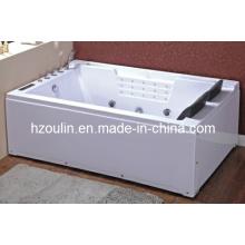 Banheira sanitária acrílica branca da massagem do redemoinho (OL-672)