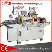 Máquina cortando da fita adesiva do silicone do poliéster