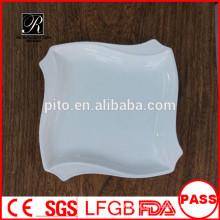 Preço de fábrica porcelana prato de jantar quadrado