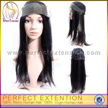 Para las mujeres 100% pelo humano indio todo atado sin pegamento Celebrity peluca llena del cordón