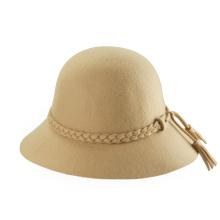 Kundenspezifische Mode-Geflecht-Quasten breit-überbrückte Fedora-Wolle-Hüte