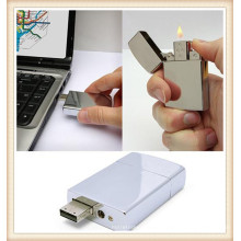 2015 White Metal Lighter USB Flash Drive for Boy (EM026)