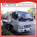 Dongfeng dlk uno remolque dos camiones grúa de plataforma