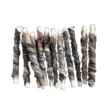 fish skin wrap rawhide twist bones dog chews for dog