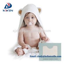 Beauté blanc couleur petit ange design 100% coton à capuche bébé serviette