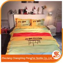 Красивые поставку печатных листа с буквами набор для кровати