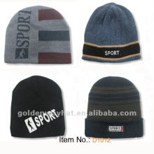 2012 fashion acrylic knitted beanie hat for winter