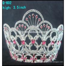 Vente en gros strass belle grand concours tiaras couronne réduction tiaras couronnes