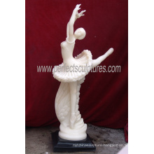 Dancer Girl Marble Figurine Stone Carving Italian Sculpture Hotel Statue (SY-X1149)
