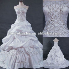 Embrodery with handmad beadings wedding gown