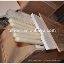 Tubo cerâmico de venda quente profissional da proteção da alumina alta de Toho para o par termoeléctrico