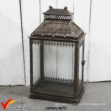 Античный декоративный железный фонарь на открытом воздухе Марокканский фонарь