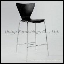 Black Series 7 Plywood Bar Restaurant High Chair (SP-BBC228)