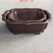 Purple Clay Durable Flower Planter Pots With Logo