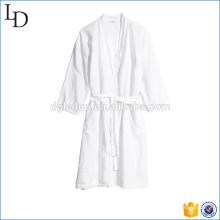 Blanc décontracté hôtel robe de bain luxe chaude robe de coton