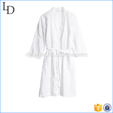 White casual hotel bath robe luxury warm cotton robe