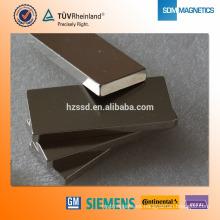 ISO / TS16949 Certificado N52 bloque permanente imán de bisel
