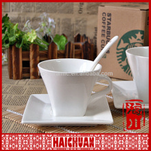 Porcelain coffee cup and saucer for uk market