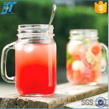 16oz 17oz 32oz Glass Mason Jars Drinking Mason Jar with Handle and Straw