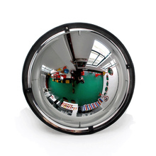 Bigger viewing safety 360 degree view plastic full dome convex mirror, Super viewable sphere convex mirror