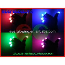 Guantes de luz LED para fiestas.