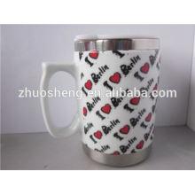 nuevos productos 2015 innovador producto acero inoxidable promocional de cerámica taza de viaje