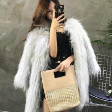 Abrigo de pieles verdadero del mapache de la moda