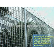 Vedação de grade de aço galvanizado, grade padrão galvanizado, grade de barras planas galvanizadas