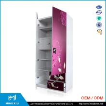Mingxiu 2 Door Metal Cabinet / Steel Locker Wardrobe